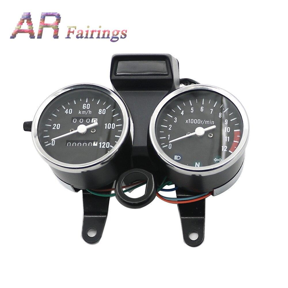 GN125 1 definir Tacômetro Velocímetro Da Motocicleta Plástico ABS Para Suzuki GN 125 Conjunto do Instrumento