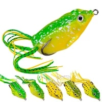 new style 5 5g 11 5g 13g frog lure soft tube bait plastic fishing lure with fishing hooks topwater ray frog artificial 3d eyes