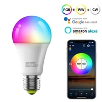 WiFi Bluetooch Smart Bulb E27 Work With Alexa Google Home Voice Control RGB CCT Dimmable Timer Magic Lights Remote Control Lamp