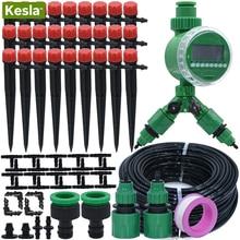 KESLA 5-25M Garden Balcony Greenhouse DIY Automatic Watering Kits Micro Drip Irrigation System for  Adjustable Dripper