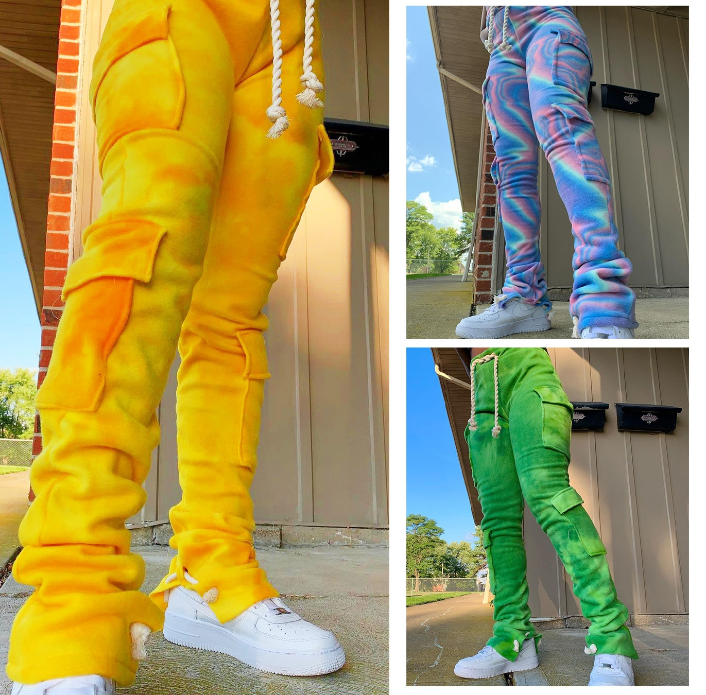 Новые повседневные Бархатные джоггеры, женские брюки, джоггеры на шнуровке с карманами, спортивные брюки с высокой талией, уличная одежда, з...