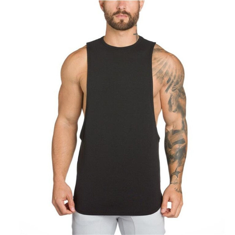 Compression breathable gym workout muscle sleeveless T-shirt men's fitness training clothes fitness