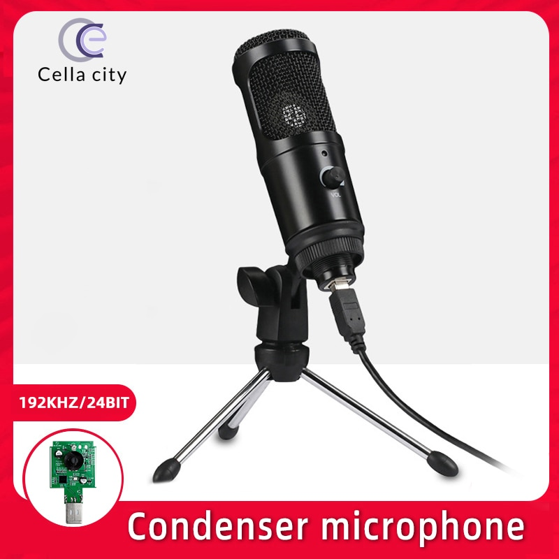 Cella M1 PRO USB Condenser Microphone 192kHz/24-Bit for PC Streaming  Gaming Computer And YouTube Recording With Tripod Stand