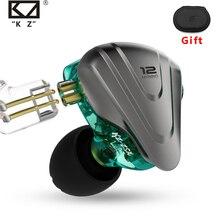 KZ ZSX-auriculares metálicos 5BA + 1DD, tecnología híbrida, 12 controladores, auriculares de graves HIFI con Monitor de oído, auriculares con cancelación de ruido
