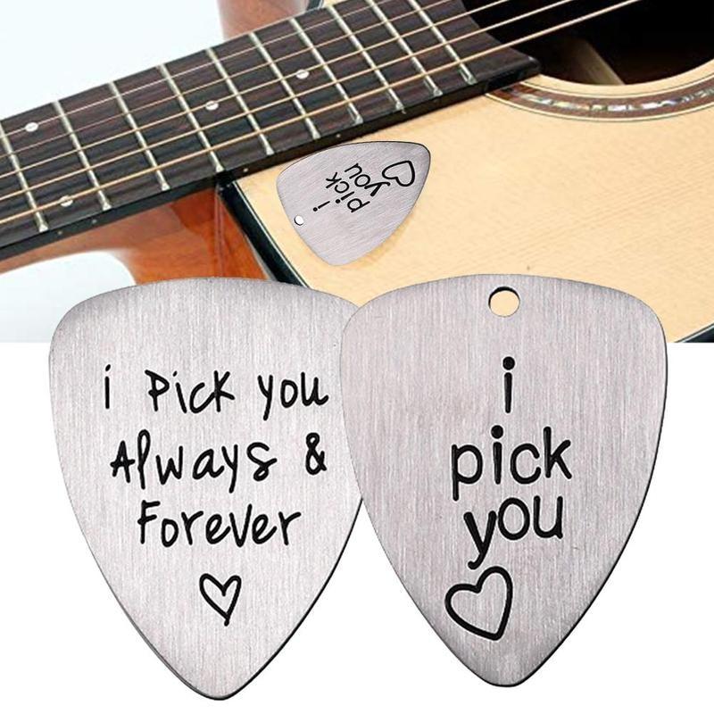 AliExpress - Guitar Picks Steel Jewelry Ukulele Accessories Pick Guitar Carved Forever Steel Pick You Guitar Supplies Guitar Accessories