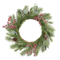 1 pcs artificial christmas wreath durable and waterproof wreath wall hanging christmas vine circle decoration