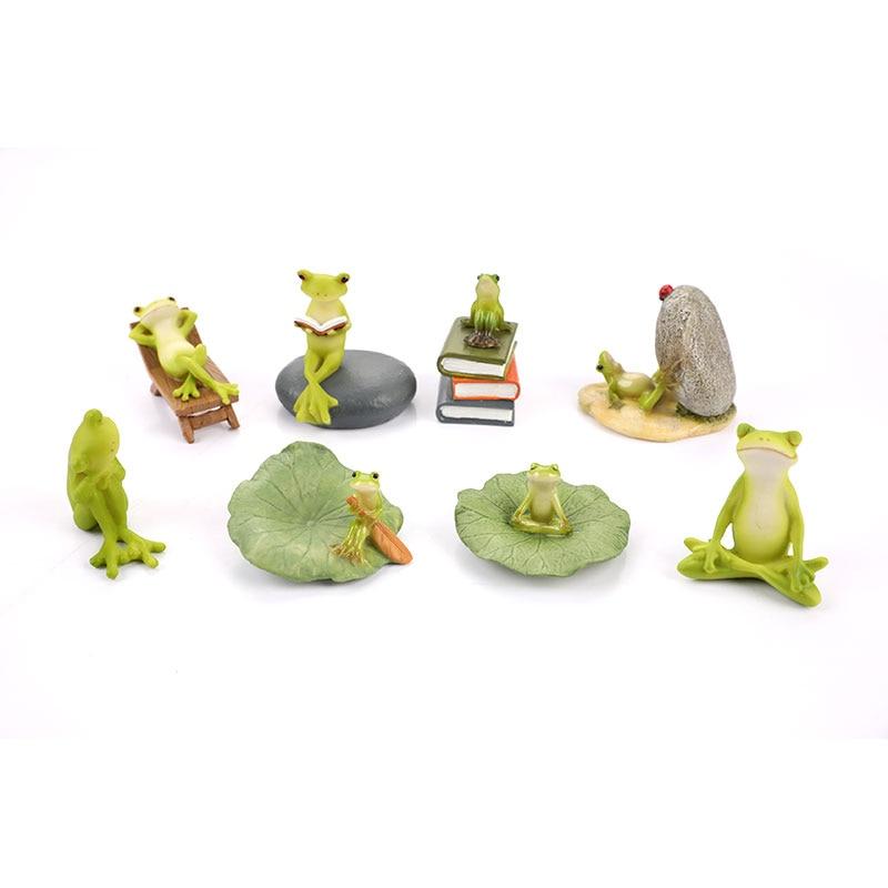 Садовые фигурки лягушки, миниатюрный ландшафт, домашний декор, аксессуары, подарки, сувениры