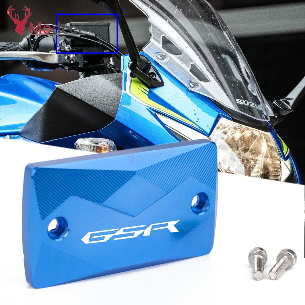 1 CNC аксессуары мотоцикл бачок тормозной жидкости для переднего колеса Крышка крышки для Suzuki GSR750 GSR 750 2011 2012 2013 2014 2015 Motorbikre