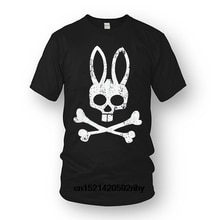 T Shirt Men Tees Brand Clothing Funny Psycho Bunny Men& Grande Bunny Crew Loung T-shirt