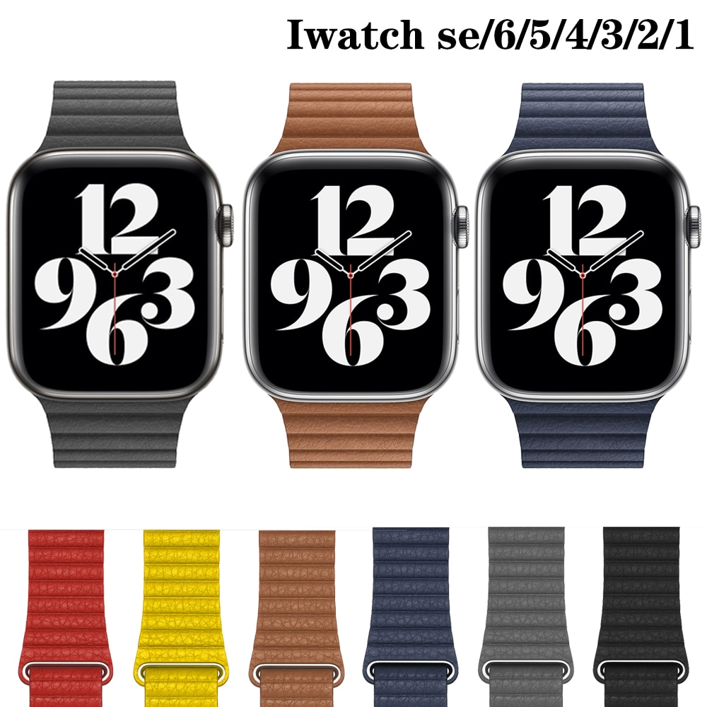 leather loop strap for apple watch 5 band 44mm 40mm iwatch band 42mm 38mm bracelet genuine leather watchband series 6 5 4 3 2 se Leather loop strap For Apple watch 5 band 44mm 40mm iwatch band 42mm 38mm bracelet Genuine Leather watchband series 6 5 4 3 2 SE