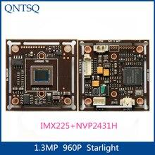 960P 1.3 mp SONY   Carte CMOS 1/3 pouces IMX225 + NVP2431H, carte Starlight haute définition, AHD, Module de caméra CCTV analogique