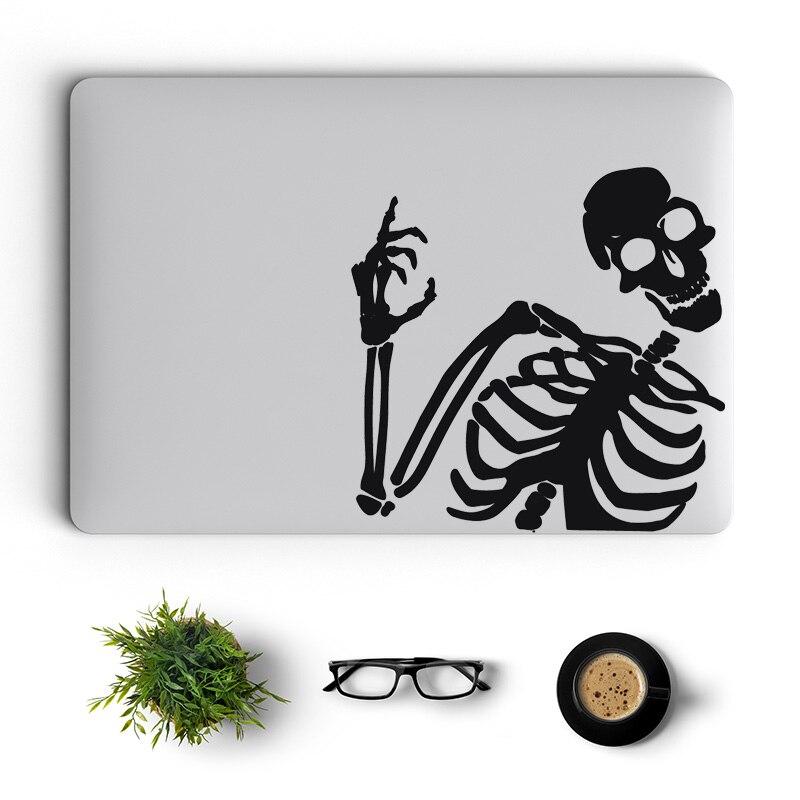 Etiqueta do Portátil para Macbook Esqueleto Onda Engraçado 16 Retina ar 11 12 13 15 Polegada Vinil Mac Superfície Livro Pele Notebook Decalque oi Pro