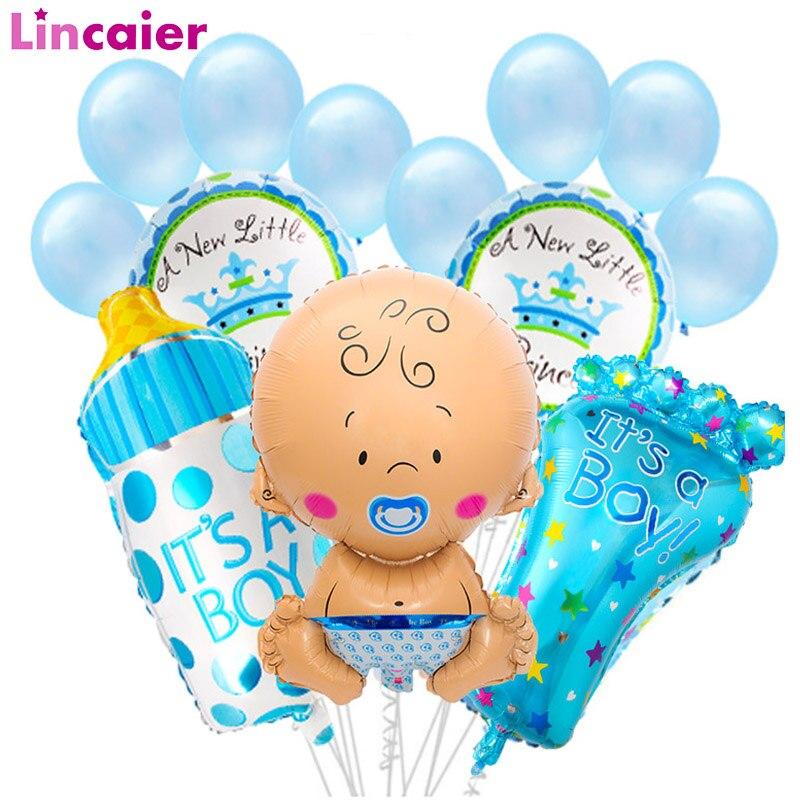 15 Uds bebé ducha muchacho de Ballon decoraciones de la ducha de bebé género revelan bautismo fiesta Babyshower 1st cumpleaños Deco