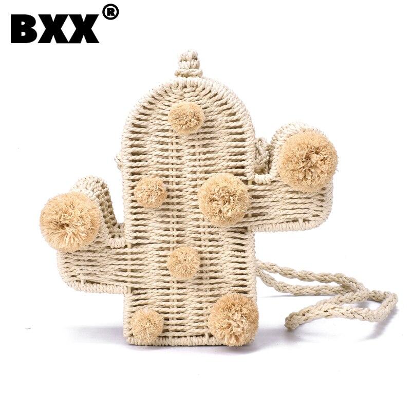[BXX] Women 2021 Fashion Branded High Quality Beach Woven Handbag, Cactus Bag, Summer Straw Bag, Women, New Series 2019 CB327