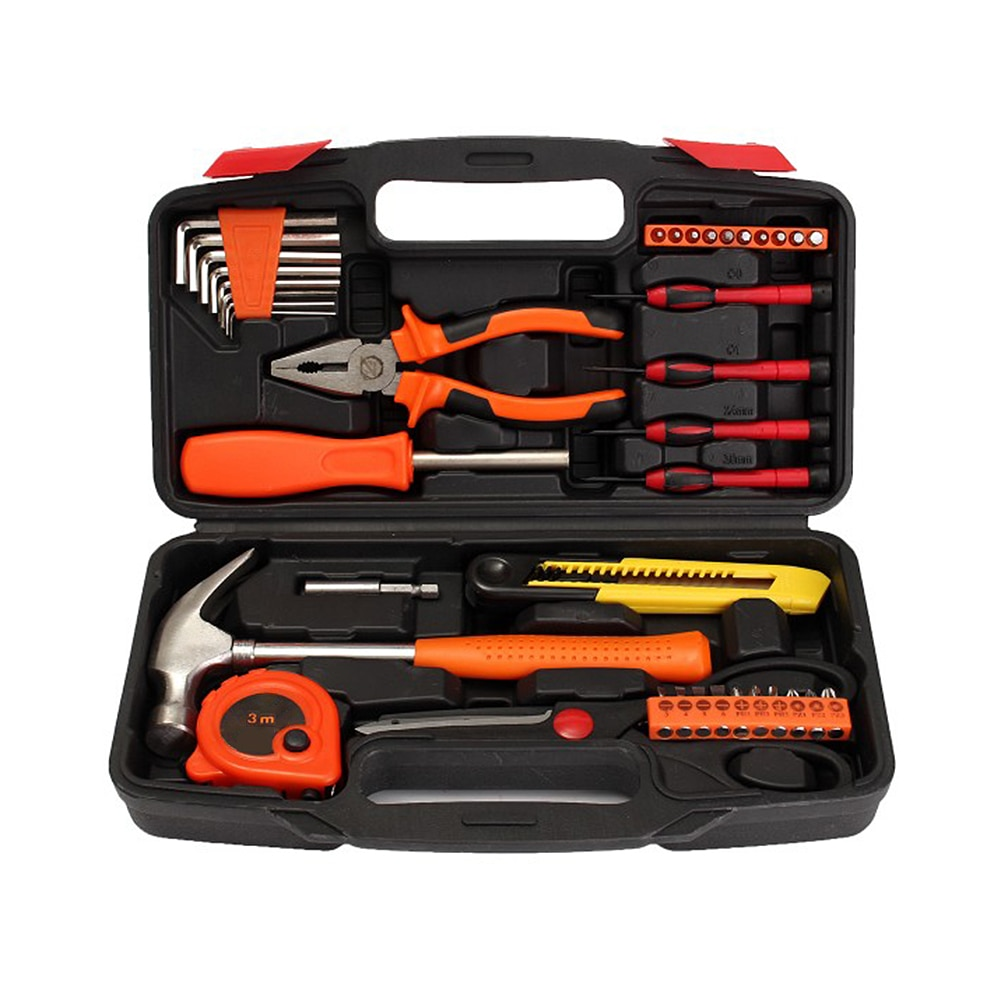 hot pro skit pk 2028 household repair hand tool set electrician pliers driver bit set wrench tool kit tool box 39-Piece Home Tool Set for Home Hand Repair Tool Set Household Tool Kits With Screwdrivers Pliers Hammer Utility Knife Box