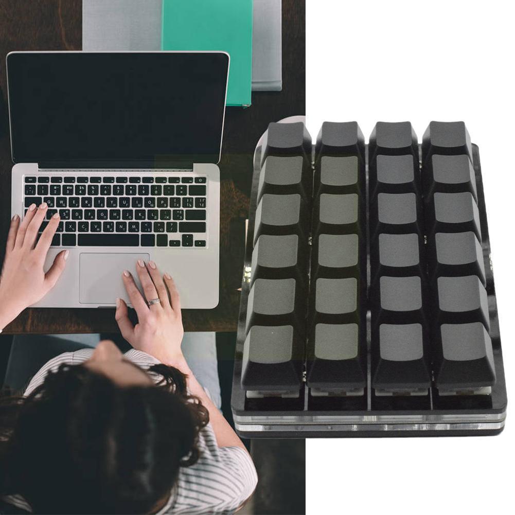 24 مفاتيح لوحة مفاتيح صغيرة الميكانيكية المخصصة القياسية K Eyboard L5e4