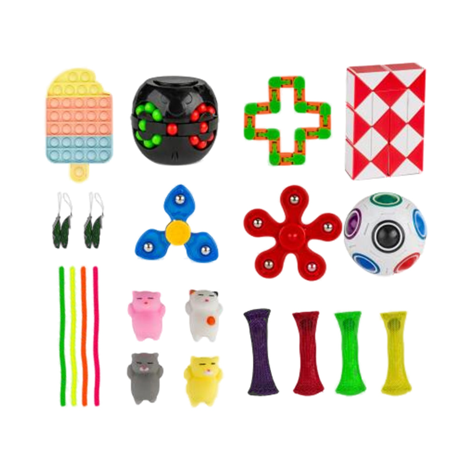 24/21Pcs Fidget Toys Pack Funny Gift for Children Adult Antistress Figet Toys Autism Anxiety Relief Stress Sensory Toy Set enlarge