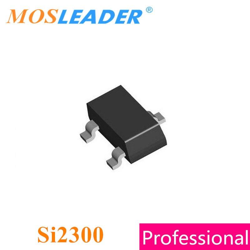 Mosleader Si2300 SOT23 3000 قطعة Si2300DS Si2300DS-T1-GE3 20V 30V 3A 3.6A صنع في الصين جودة عالية