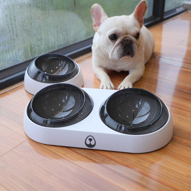 Fuente de alimentación de mascotas the Bes, alimentador de gatos con plataforma inclinada de 15 grados, cuenco de agua antideslizante para comida para perros, gatos y cachorros 889