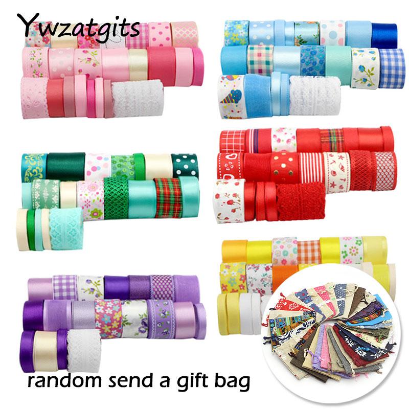 Набор лент ywzatgis 6-45 мм, цветная Смешанная лента в стиле Grosgrain, кружевная отделка для самостоятельного изготовления, Свадебная подарочная упаковка, аксессуары для волос YQ0202
