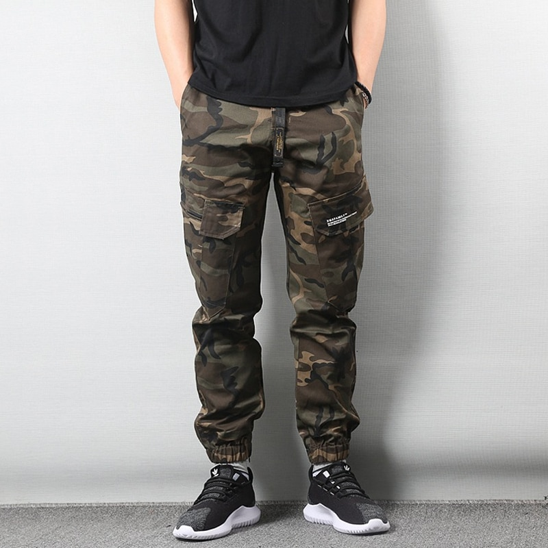New Fashion Men Camouflage pants Mens Streetwear Jogger Pants Youth Casual Ankle-Length Cargo Fitness Hip Hop Trousers