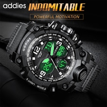 2021 Sport Watch Men Dual Display Analog Quartz Outdoor 50M Waterproof Shock Military Watches For Me