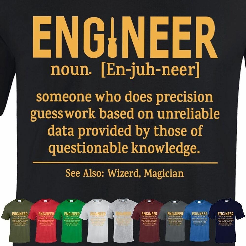 Ingénieur drôle t-shirt ingénieur étudiant jeunesse hommes nouveauté défini t-shirt
