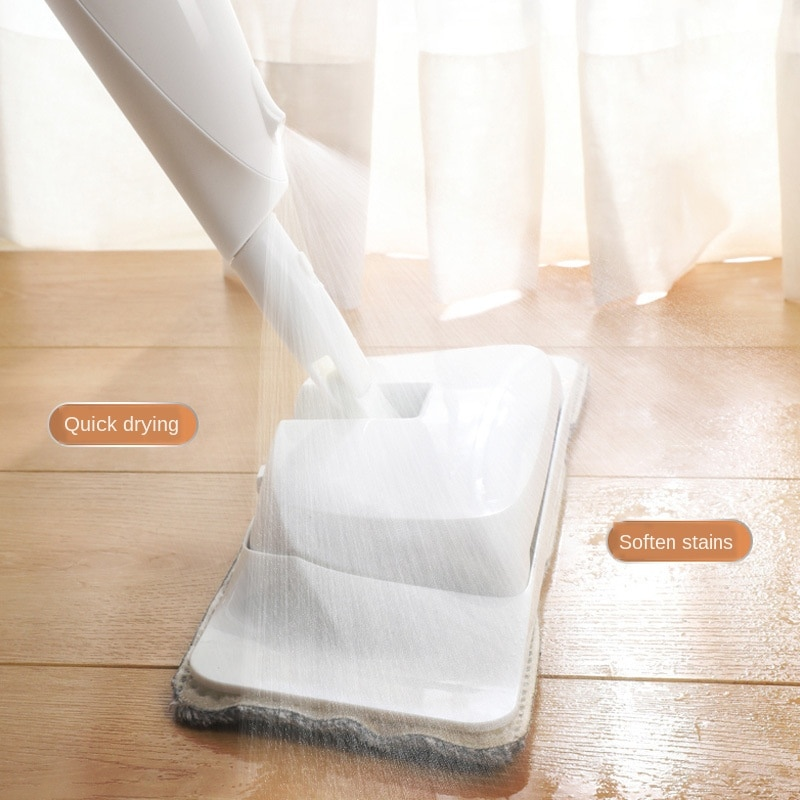 Fregona de aerosol 3 en 1 para el hogar, conjunto de escobas mágicas, fregonas planas de madera para el suelo, herramienta de limpieza del hogar con almohadillas de microfibra reutilizables WJ616
