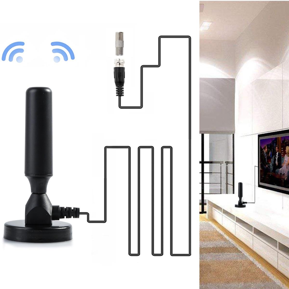 Antena FM 1080P USB DVB-T antenas interior TV receptor Digital con Base magnética para TV HDTV DTMB ATSC ISDB decodificador