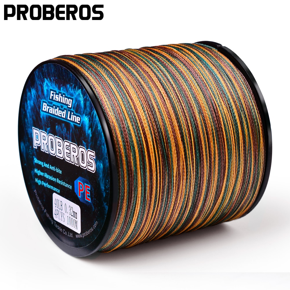 AliExpress - PROBEROS 4 and 8 Strands Fishing Line 300M-500M-1000M PE Braided Line 10LB-100LB Multifilament Fishing Line Smooth for Bass Fish