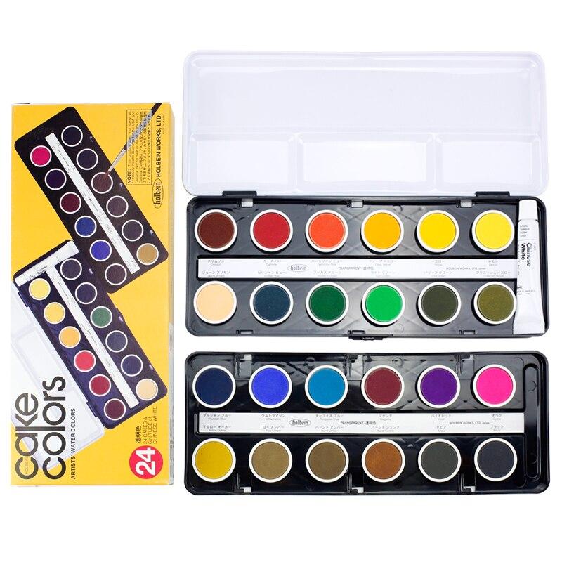 Holbein Watercolor Artist 12 Colors 24 Colors Transparent Solid Watercolor Powder Pigment Set