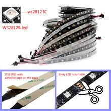 0,5 m/2m/5m ws2812b LED pixel Licht streifen Adressierbare 30/60/144 /leds/m DC5V 5050 RGB Schwarz/Weiß PCB,matrix, Kunst-Net,MADRIX