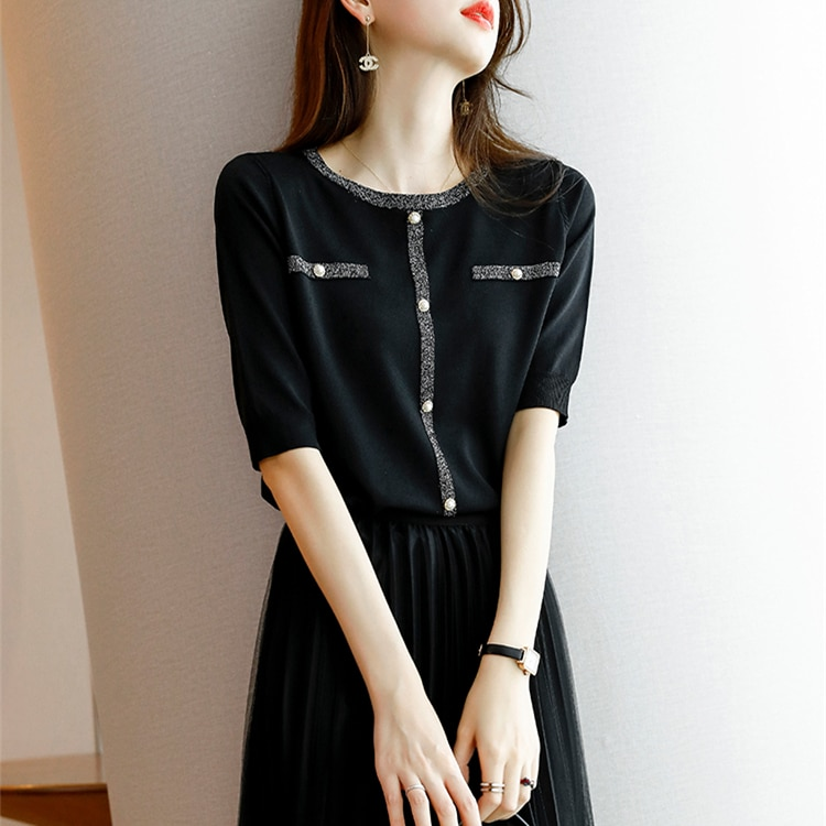 Belle house pure color thin type of cultivate one's morality render unlined upper garment of new spring and summer in five femal