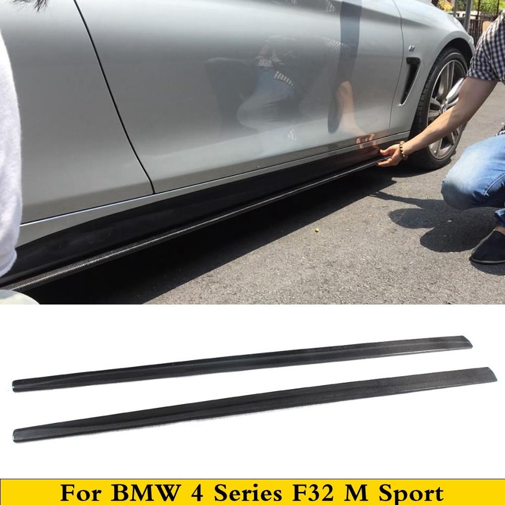طقم الجسم من ألياف الكربون M4 ، التنانير الجانبية ، تمديد الشفة ، لسيارات BMW 4 Series F32 M Sport Coupe 2014 2015 2016 2017 2018