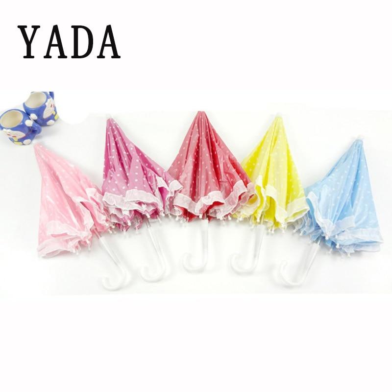 YADA Have Stock Cartoon Dot Lace Toy Umbrella Decorations Foldable Hands Rainbow Folding&Waterproof Multicolor Hat Cap YD126