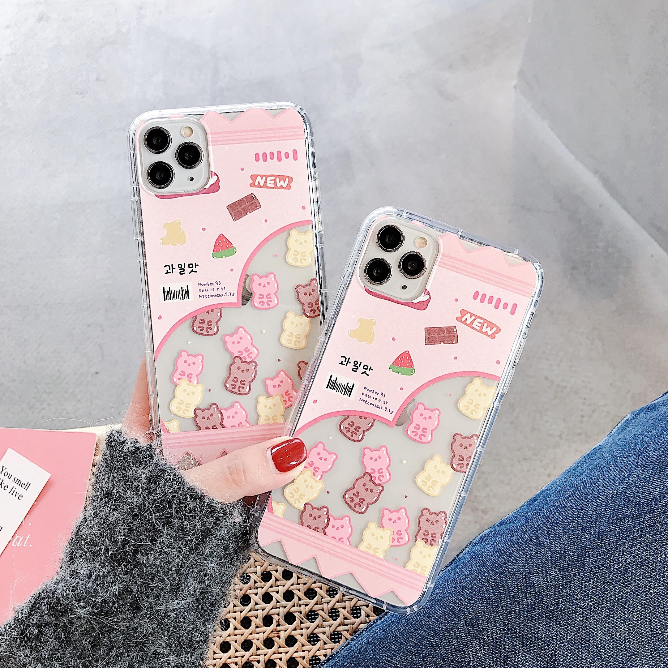 INS Korea Stil Rosa Bär Telefon Abdeckung Für Xiaomi Mi 8 Lite 9 SE 6X CC9 CC9E Redmi Hinweis 8 7 K20 Pro Silikon Weichen TPU Fall Shell