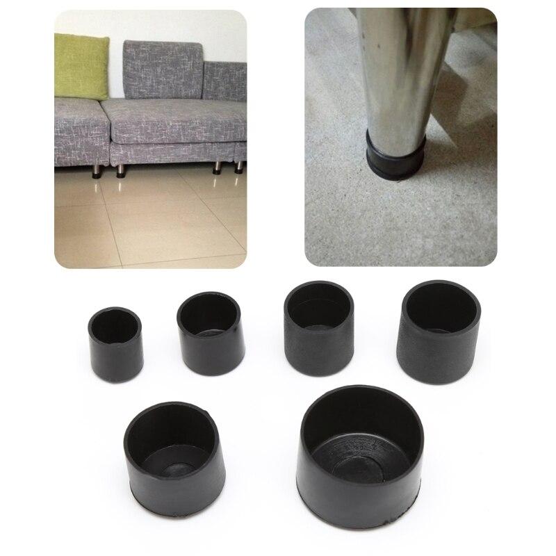 4 pces pe cadeira perna tampões redondos não-deslizamento mesa pé capa de poeira meias protetor de piso almofadas tubulação plugues móveis nivelamento pés