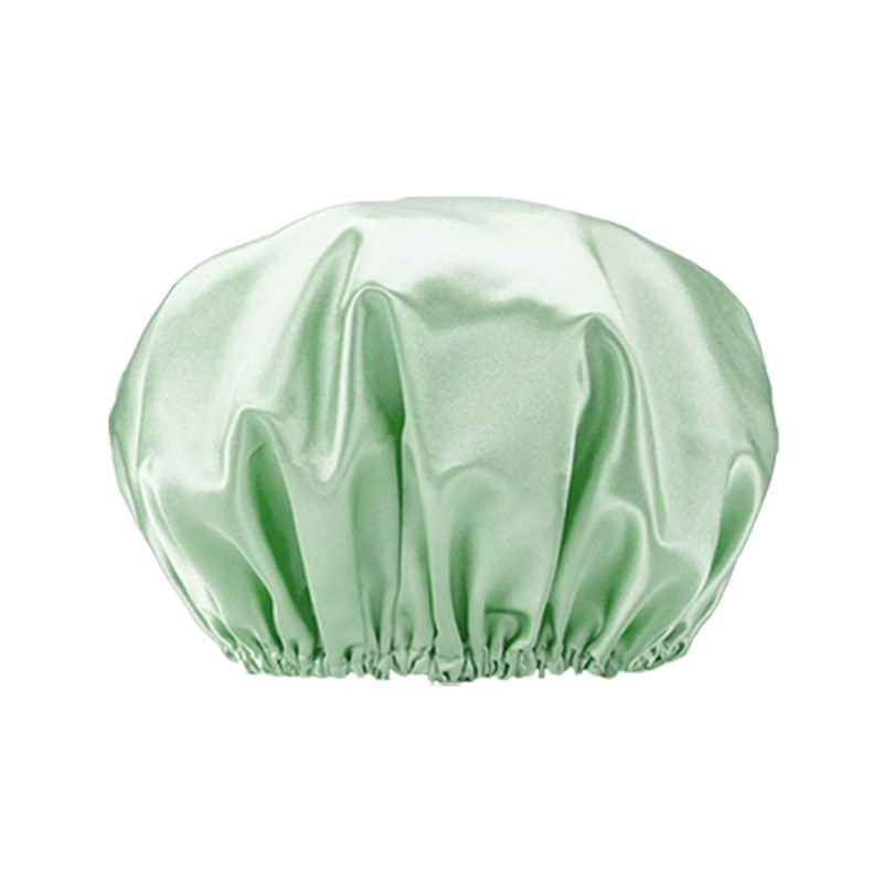 Double Waterproof Colour Ding Bath Cap With New Plain Colour Lining for Adult Women enlarge