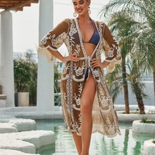 Cubre la cubierta del traje De baño De la playa para mujer Pareo De Plage traje De baño Bikini De salida cubre el sol Kaftan señoras Outings para mujer