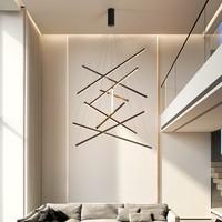 Люстра для лестницы, простая современная цилиндрическая пустая люстра с высокой талией, длинсветодиодный ная лампа для гостиной