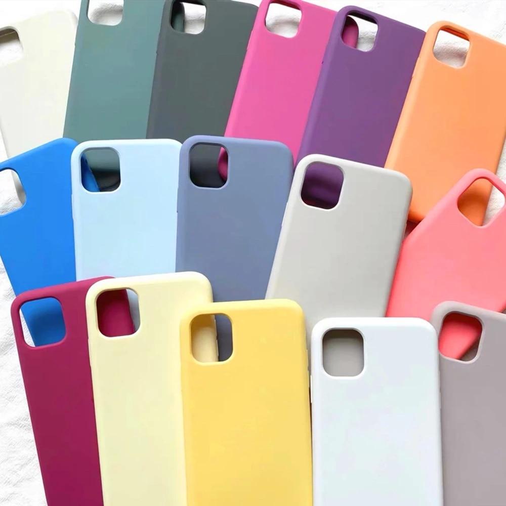 Оригинальный силиконовый чехол для iPhone 11 7 8 Plus XR X XS Max 6 6s, чехлы для iPhone 12 11 Pro MAX SE 2020, чехол с коробкой