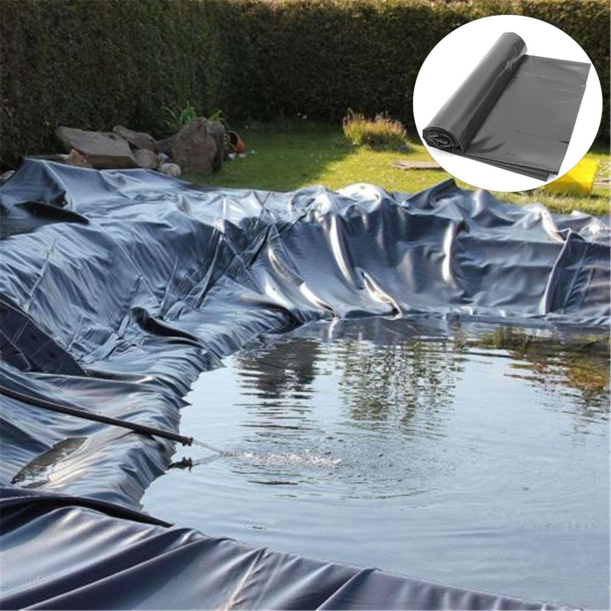 Revestimiento de caucho para estanque de peces HDPE, cubierta de membrana Impermeable gruesa para paisajismo, cubierta para piscinas de 4x 4m/5x 5m/7x7m, revestimientos para estanque