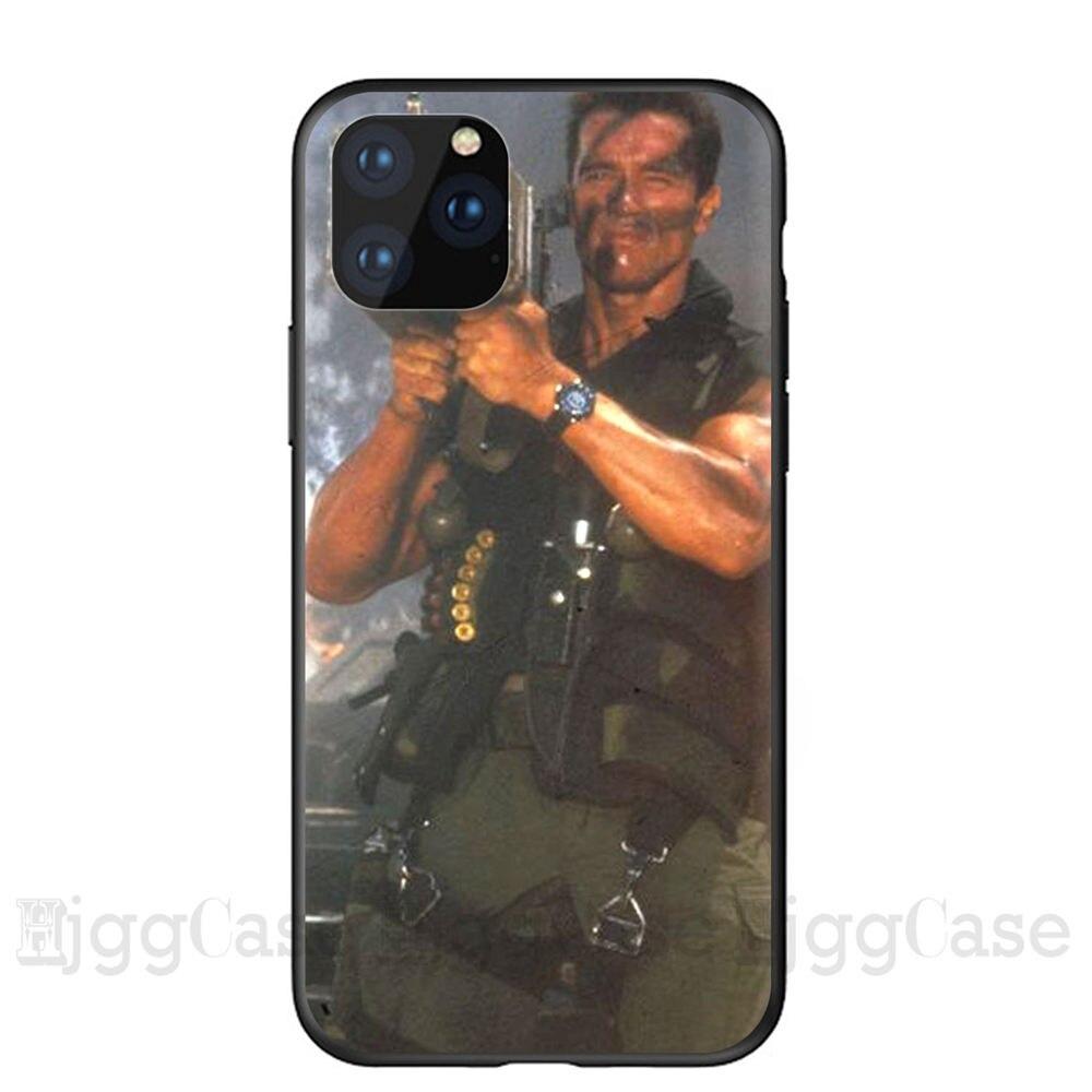 Arnold Schwarzenegger movie Commando 1985 poster phone case For Apple iPhone 11 PRO MAX i11 pro coque