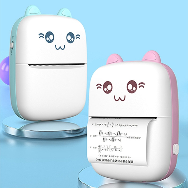 Мини ручной термопринтер мобильный телефон Bluetooth, совместим с 1 роликом, карманный принтер для печати на бумаге