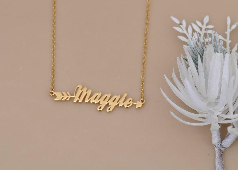 Персонализированные именные ожерелья ювелирные изделия именные ювелирные изделия на заказ слово ожерелье персонализированные слова