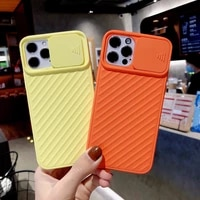 candy slide soft shockproof lens protection phone case for iphone 11 12 pro max mini se 2020 x xr xs 7 8 plus 6 6s back cover