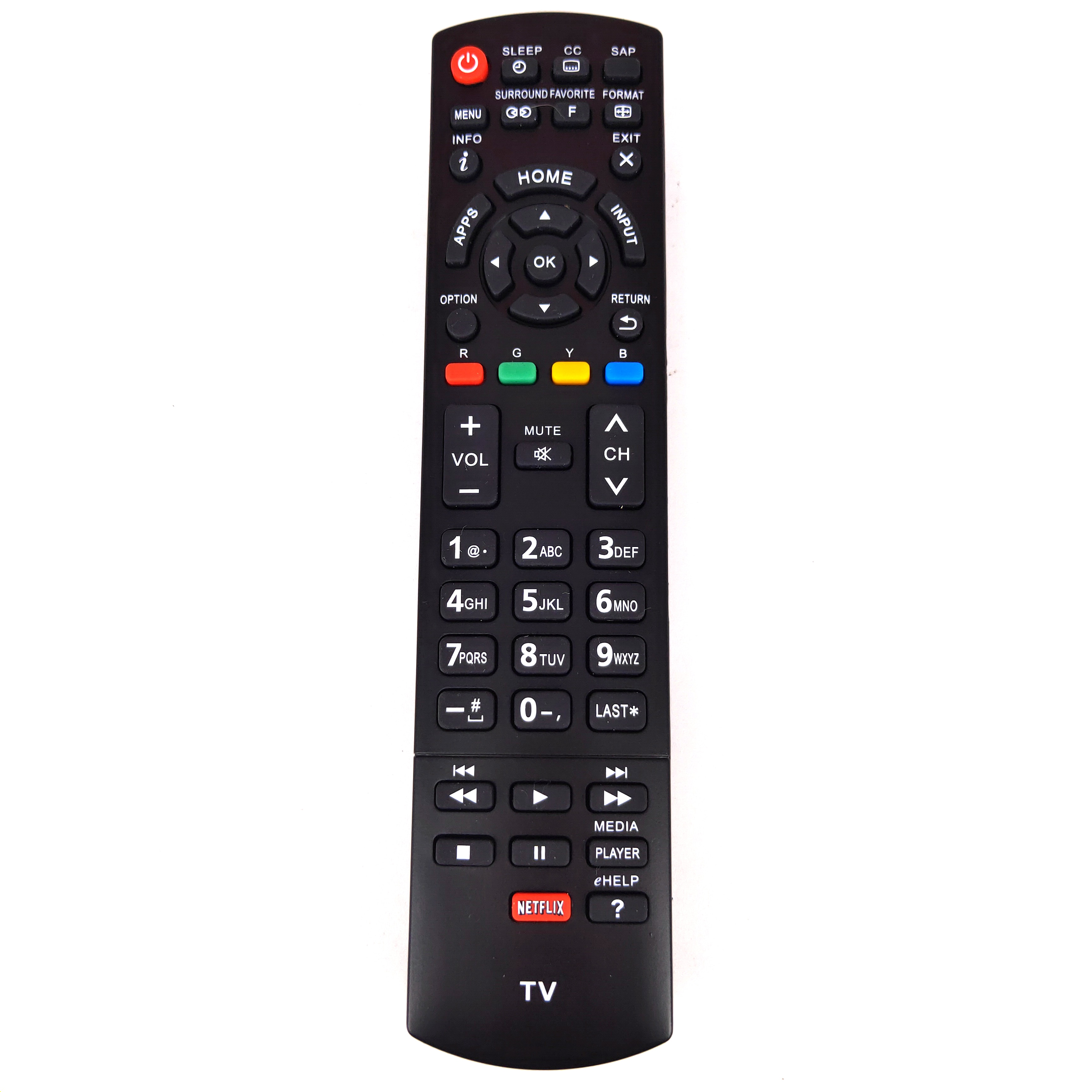 New Replacement for Panasonic TV Remote control with Netflix Fernbedienung