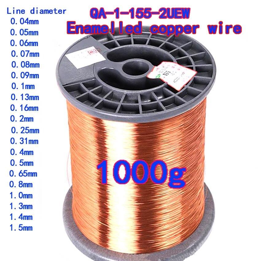 1000g rolo 004 01 02 04 05 1 13 15mm fio de cobre do ima do fio esmaltado bobina