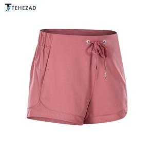 TEHEZAD Women Casual Yoga Short Sport Running Tights Summer Spandex Butt Lift Fitness Simple Pants Gym Fashion Elastic Shorts
