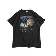 Full Cotton Men T-shirt Arizona Space Mission To Mars Hip Hop Streetwear Women tshirt Tops Tees MEN T shirt Plus Size S-5XL